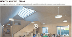 Wood for Good video health and wellbeing benefits of wood